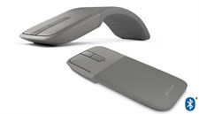 Surface Arc Mouse (Light Gray / Burgundy / Cobalt Blue)