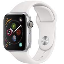 iWATCH SERIES 4, 40MM WHITE SPORT BAND