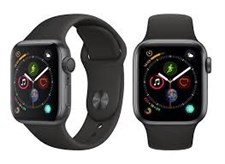iWATCH SERIES 4, 40MM BLACK SPORT BAND
